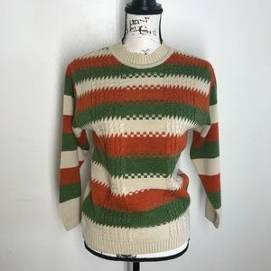 Feeling Touch Stripe Crew Neck Sweater